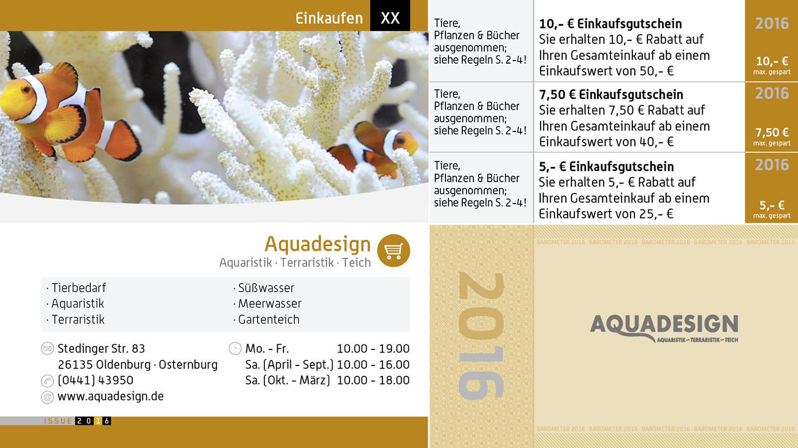 Barometer das exklusive ausgeh scheckheft und gutschein for Aqua design oldenburg